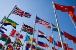 Flags in the wind Political Science and International Studies Profiles Button