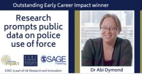 Outstanding Early Career Impact Winner Dr Abi Dymond