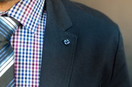Suit jacket, shirt and tie