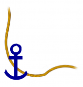 Anchor and rope, bottom left border