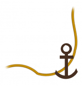 Anchor and rope, bottom right border