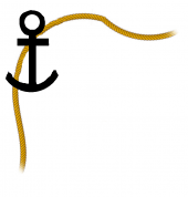 Anchor and rope, top left border