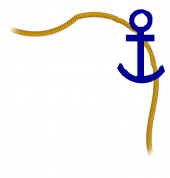 Anchor and rope, top right border