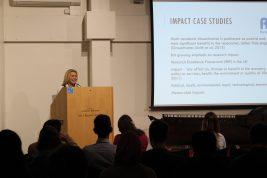 Keynote Dr Dawn Mannay Talks about Impact