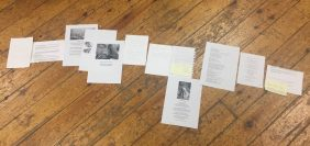 Documents collated into a zine