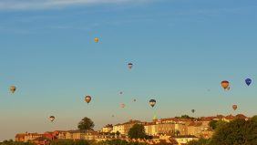 Hot air balloons flying over Bristol- Link to The Consortium page