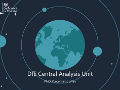 DfE Central Analysis Unit PhD Placement Offer