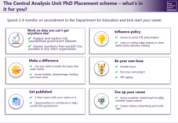 The Central Analysis Unit PhD Placement scheme- what's in it for you