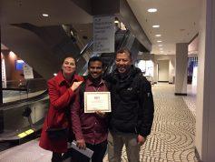 Kalyan with his award