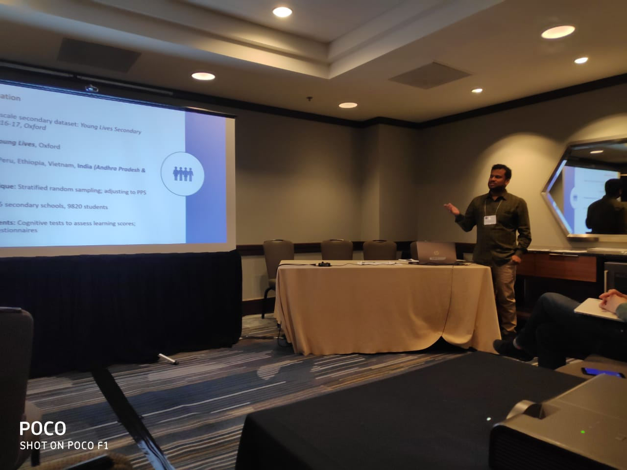 Kalyan presenting his paper at CIES in San Francisco