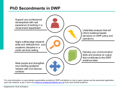 DWP PhD Secondment Information
