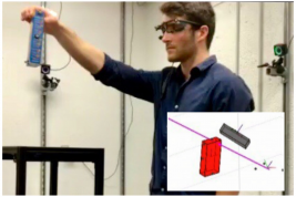 Tom using ACELAB's Gaze and Movement Assessment technology