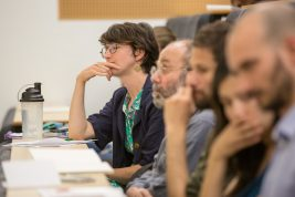 Attendees at a standing seminar in critical theory