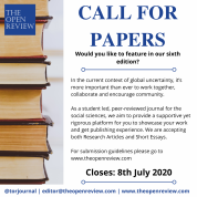 The Open Review Call for Papers advert
