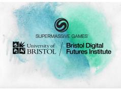 Logos for University of Bristol, Supermassive Games and Bristol Digital Futures Institute
