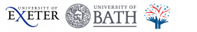 logo for university of Exeter, university of Bath and SWDTP logo
